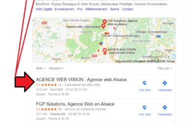 Référencement local Agence Web Vision